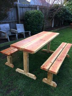 Table and bench seats made from Tractor Pallet Recycled Timber. I have oiled the top and bottom with Raw Linseed Oil. The table has triangle bracing underneath