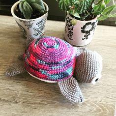 Hæklet skildpadde - opskrift fra vibemai
