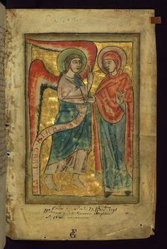 Psalter Annunciation Walters Manuscript W.78 fol. 1r by Walters Art Museum Illuminated Manuscripts