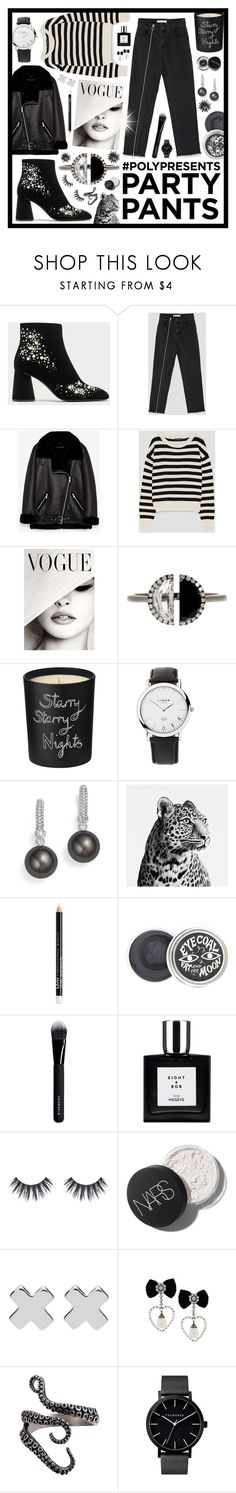 """#PolyPresents: Fancy Pants"" by beanpod ❤ liked on Polyvore featuring Bony Levy, Bella Freud, Links of London, Tara, NYX, Givenchy, Bobbi Brown Cosmetics, Witchery, contestentry and polyPresents"