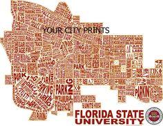 Florida State University Word Map Art