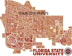Florida State University Word Map Art
