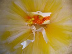 Easter Tutu Set  Yellow and White Extra Full and by cd1ofakind, $38.00