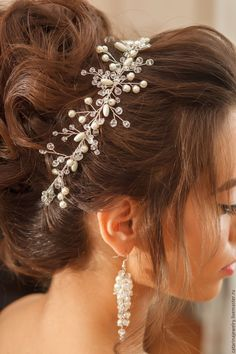 Купить Свадебные серьги - белый, серьги, серьги ручной работы, серьги для невесты, длинные серьги