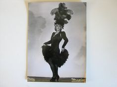 publicity photo of female impersonator Maxim by Histoires See the whole Hulla Djengo collection including costumes, accessories and publicity photos in Histoires on Etsy #histoires