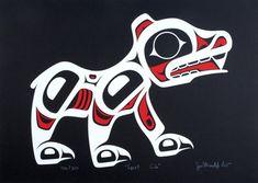 Spirit Bear Cub Limited Edition Print  by Haida Artist  Joe Mandur Jr.