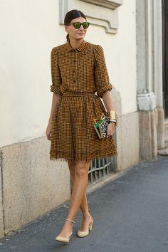 Igual que Miroslava Duma, Giovanna Battaglia recorre las Fashion Weeks haciendo gala de su estilo, pasado por los showrooms de Prada, Lanvin, Chanel y todas las