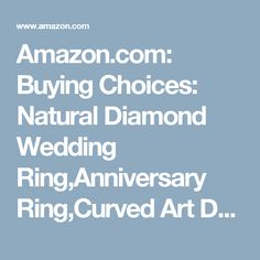 Amazon.com: Buying Choices: Natural Diamond Wedding Ring,Anniversary Ring,Curved Art Deco Antique Design,14k White gold,Infinity Band
