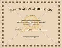 1000 images about appreciation certificate on pinterest for Pastor appreciation certificate template free