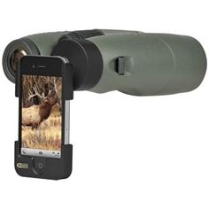 A great gift idea for tech savvy hunters, this adapter allows you to take pictures from your iPhone through your binoculars! | Meopta Meopix iScoping iPhone Adapter | $49.96