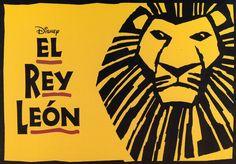 """""""El Rey León"""" Teatro Lope de Vega, Madrid"""