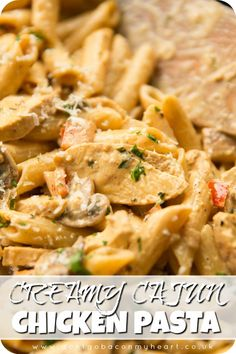This Creamy Cajun Chicken Pasta couldn't be any more delicious if it tried! Bett… This Creamy Cajun Chicken Pasta couldn't be any more delicious if it tried! Better still, it makes the perfect quick and easy family dinner. Fun Easy Recipes, Healthy Recipes, Beef Recipes, Quick Food Ideas, Easy Family Recipes, Easy Mexican Recipes, Easy Meal Ideas, Healthy Food, Cajun Recipes
