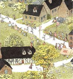 """Mitsumasa Anno (1926-) – Illustration du livre """"Ce Jour-là"""", L'École des Loisirs (1978)."""