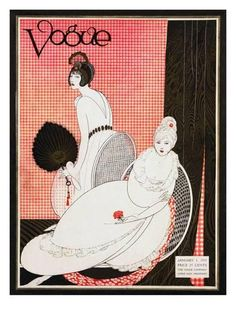 Vogue Cover - January 1913 Giclee Print by George Wolfe Plank at AllPosters.com