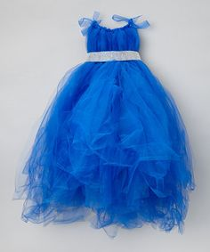 Take a look at this Blue Tulle Dress & Sash - Infant by Enchanted Fairyware Couture on #zulily today!