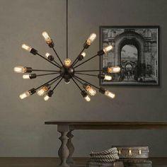 Sputnik Atomic Starburst Light Lamp Chandelier Mid Century Modern Eames Pendant Lamp Suspension Vintage Lighting 12/18 Heads Glass Ceiling Lights Hanging Lamp Shades From Dhlongten, $350.96| Dhgate.Com