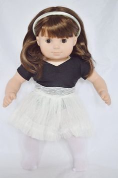 Blue Crinkle cotton dress fits Bitty Baby and Bitty Twin doll  Handmade  New
