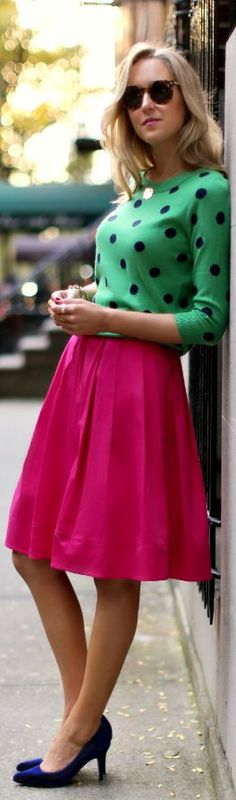 Spot On - fuschia skirt