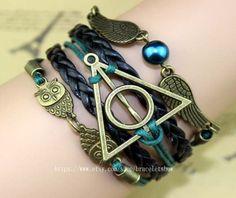 Bronze harry potter jewelry bracelets and owl by braceletshow, $4.99