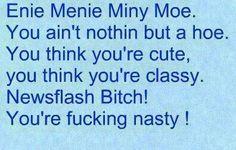 Nasty girls carry stds and drama!