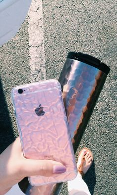 Clear Crystalline Case from Elemental Cases showing off the Rose Gold iPhone 6s also available for the iPhone 6s Plus