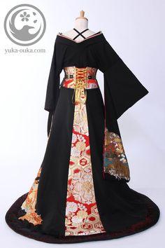 Such a beautiful modern kimono Pretty Outfits, Pretty Dresses, Beautiful Dresses, Oriental Fashion, Asian Fashion, Mode Lolita, Mode Alternative, Modern Kimono, Cosplay Dress