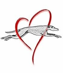 Could have the greyhound going through the heart...