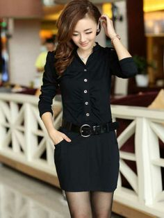 Shop Distinctive Long Sleeves Single-breasted Stand Collar Belt OL Style Slim Dress on sale at Tidestore with trendy design and good price. Come and find more fashion Long Sleeve Dresses here. Trendy Dresses, Cheap Dresses, Dresses For Sale, Fashion Dresses, Dresses For Work, Fashion Bags, Belted Dress, Chiffon Dress, Lace Dress