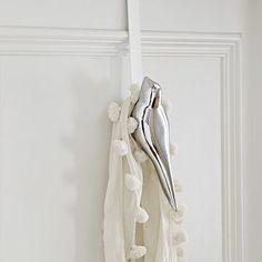 Scandinavian Bird Hook - Over-the-Door #WestElm... I want this for my bathroom :)