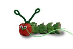 Caterpillar/Butterfly Craft using egg carton