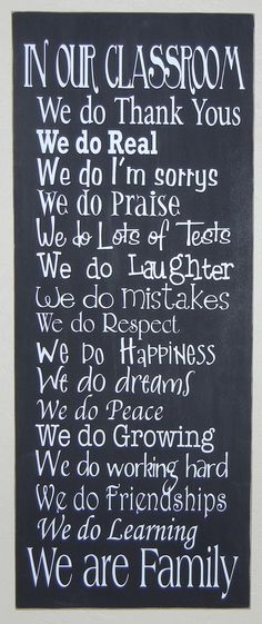 In Our Classroom Vinyl Lettering Wall Art VINYL ONLY (Board not included). $15.00, via Etsy.