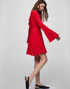 Sukienka z falbanami - Sukienki - Odzież - Dla Niej - PULL&BEAR Polska