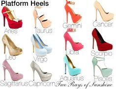 Heels for Zodiac Signs Zodiac Signs Chart, Zodiac Sign Traits, Zodiac Signs Sagittarius, Zodiac Star Signs, Horoscope Signs, Zodiac Horoscope, My Zodiac Sign, Astrology Signs, Zodiac Clothes