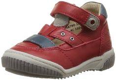 ASTONISH  Aligator 358780-10 – Zapatos de cuero para bebé niño, color rojo, talla 20