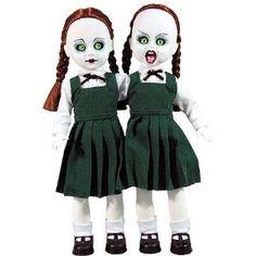Hazel and Hattie Resurrection Creepy Toys, Scary Dolls, Halloween Doll, Spooky Halloween, Halloween Decorations, Living Dead Dolls, Haunted Dolls, Creepy Pictures, Gothic Dolls