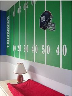 This is by far my favorite pin to date - Sports Kids Room Deco! I am going to do this for my son's room