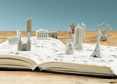 Rubber erasers that'll turn your desk into a cityscape.