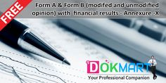 This document contains Editable Format for Form A & Form B (modifed and unmodified opinion) with financial results - Annexure -X as per Regulation 33 of SEBI (LODR) Regulations, 2015 making it handy for use and compliance.