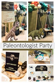 Paleontologist birthday party that kids are going to absolutely love. The party includes activities for the kids, plus ideas for how to set up a fun camp out in the home. With some simple decorations and a few party treats, this is a party that kids will talking about for a long time. Dinosaur Birthday Party, Boy Birthday Parties, Birthday Party Decorations, Fun Camp, Diy For Kids, 3 Kids, Party Themes For Boys, Beach Kids, Party Activities