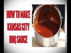 How To Make Kansas City BBQ Sauce - YouTube Easy Bbq Sauce, Barbecue Sauce Recipes, Rib Sauce, Texas Bbq, Spice Rub, Kansas City, Make It Yourself, Tableware, How To Make