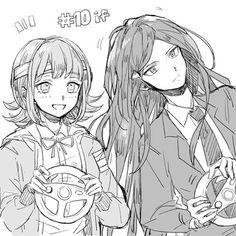 Cutiessss (and he's even wearing Chiaki's hairpin)