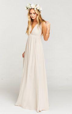 AVA MAXI BRIDESMAID DRESS ~ SHOW ME THE RING CRISP | MUMU WEDDINGS