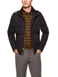 Felted Cargo Pocket Jacket by Vince on Gilt.com