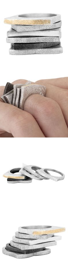 Rings by Frikkia - silver/gold -