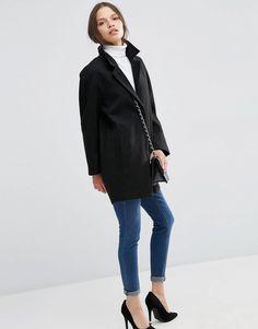 Boyfriend coat Asos petite