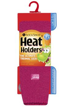 Kids SockShop Long Heat Holders Thermal Socks