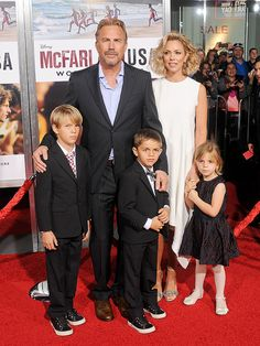 Star Tracks: Tuesday, February 10, 2015 | RED CARPET CREW | Kevin Costner, his wife Christine Baumgartner and their children Cayden, 7, Hayes, 6, and Grace, 4, make the premiere of Dad's new Disney movie, McFarland, USA, a family affair on Monday in Hollywood.