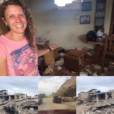 ECUADOR EARTHQUAKE Update:  More from Canoa, Ecuador:  The top picture is Sarah's place. She's a fellow need-greater (instagram @pssss_rubia). Her home is destroyed. But we're happy she wasn't hurt. And she's still smiling! The other pictures are more sad scenes from the town. There have been over 400 aftershocks since the quake on Saturday. The whole town smells of death. :'( (Thanks for sharing, @losetonch)  Greetings from http://MinistryIdeaz.com