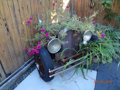 Colorado Cowgirl Gardening: Look what I found in a Lakewood yard - 1930 Chevy Planter