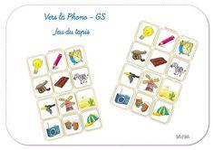 Ma petite maternelle: Phonologie - Jeu du tapis GS